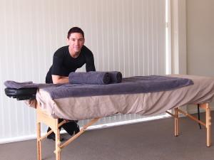 Massage table set up